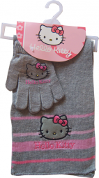 Hello Kitty Handschuhe + Schal
